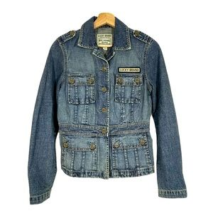 LUCKY BRAND Outdoors Division Denim Cargo Jacket M